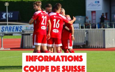 Organisation Coupe de Suisse
